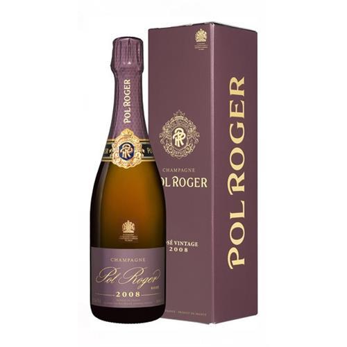 Pol Roger Rose 2008 Vintage Champagne 75cl Image 1