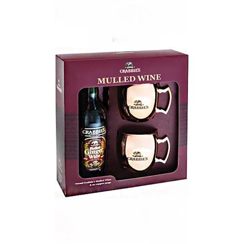 Crabbies Mulled Wine Copper Mug Gift Pack 12% 70cl Image 1