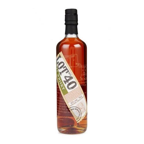 Lot No 40 Rye Whisky 43% 70cl Image 1