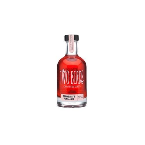 Two Birds Strawberry & Vanilla Gin 20cl Image 1