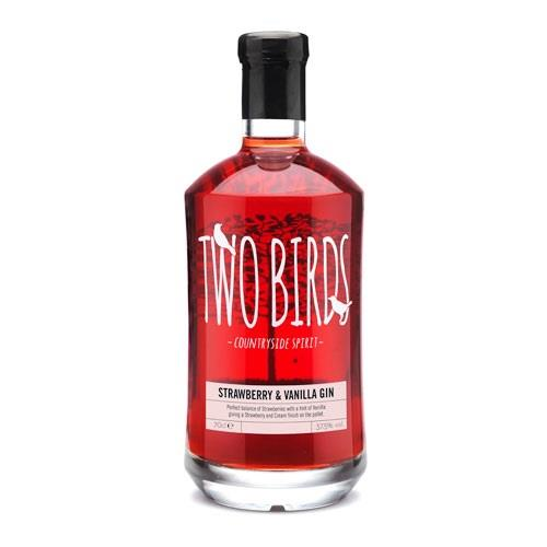 Two Birds Strawberry & Vanilla Gin  37.5% 70cl Image 1