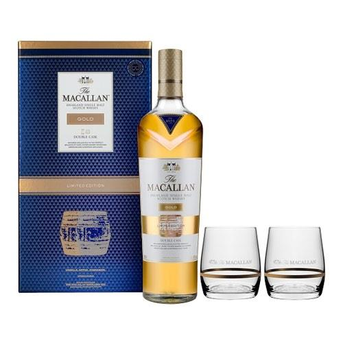 Macallan Gold Double Cask Glass Pack 70c Image 1