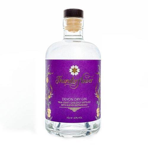Thunderflower Devon Dry Gin 42% 70cl Image 1