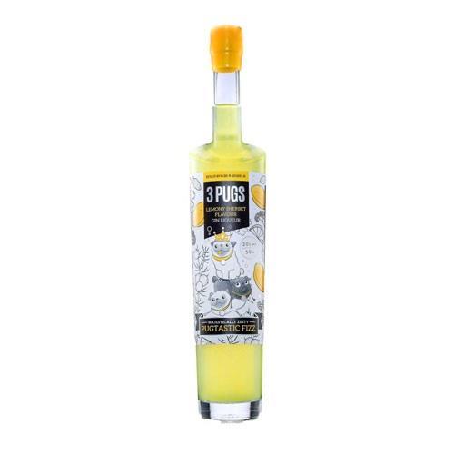 3 Pugs Lemony Sherbet Flavoured Gin Liqueur  Image 1