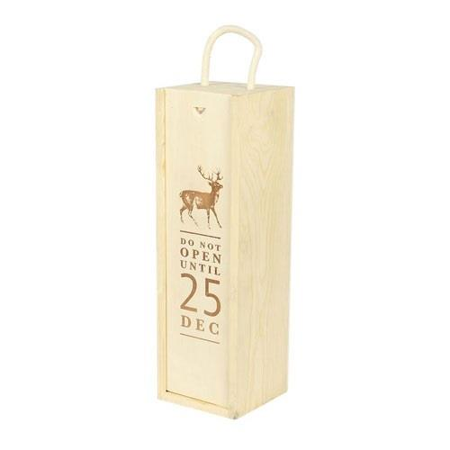 'Do Not Open' Christmas Lid Wooden Gift Box Image 1
