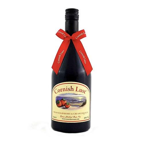 Cornish Lust Strawberry & Cream Liqueur 70cl Image 1