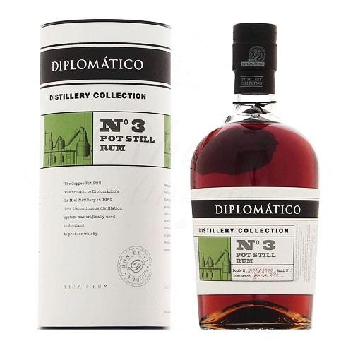 Diplomatico Distillery Collection No.3 Pot Still Rum 47% 70cl Image 1