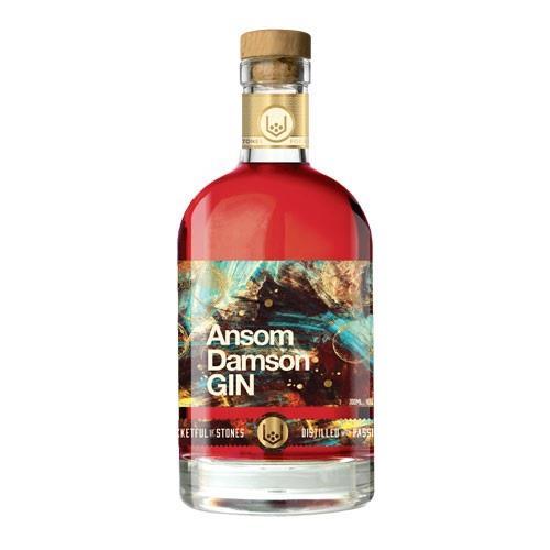 Ansom Damson Gin Pocketful of Stones 70cl Image 1
