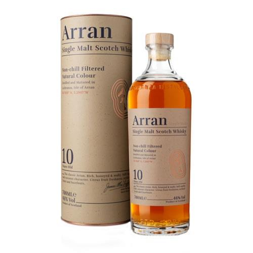 Arran 10 Year Old Single Malt Whisky 70cl Image 1