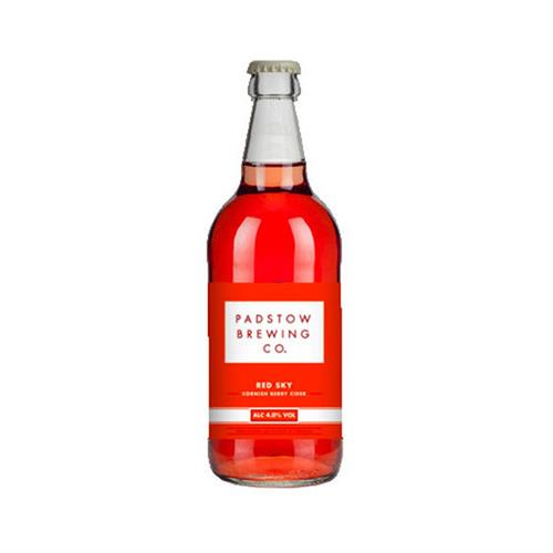 Padstow Red Sky Berry Cider 4% 500ml Image 1