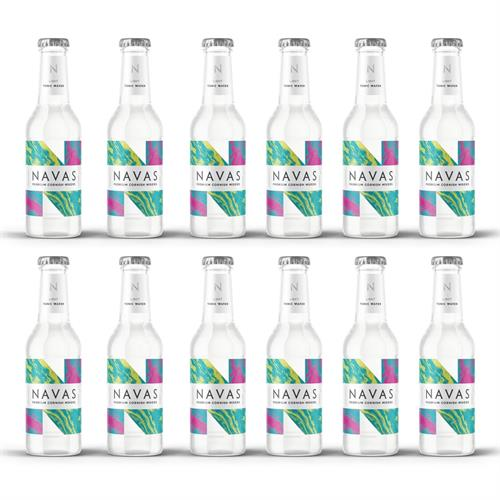Navas Light Cornish Tonic Water 200ml Case of 12 Image 1