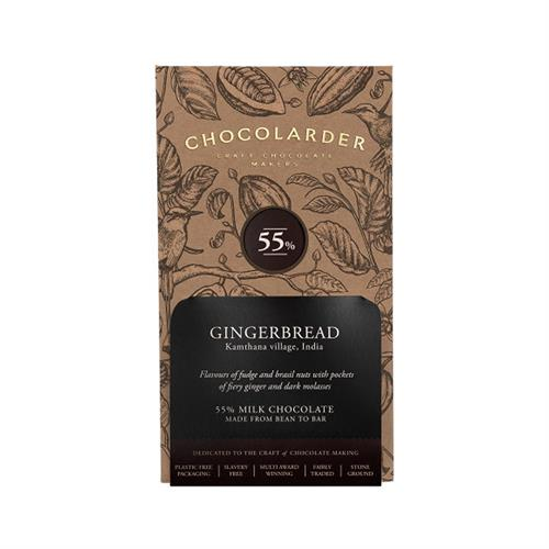 Chocolarder Gingerbread 55% Milk Chocolate 70g Image 1