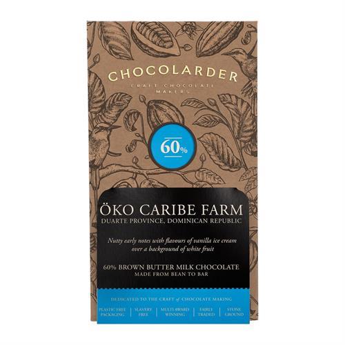 Chocolarder Oko Caribe Farm 60% Brown Butter Milk Chocolate 70g Image 1
