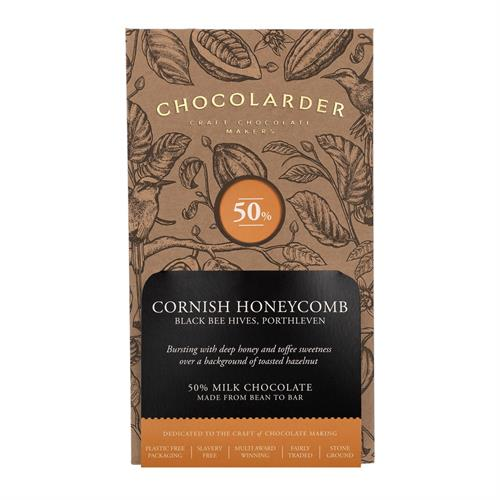 Chocolarder Cornish Honeycomb Chocolate 50% 70g Image 1