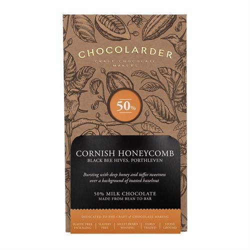 Chocolarder Cornish Honeycomb Chocolate 50% 70g Image 1
