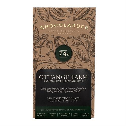 Chocolarder Ottange Farm 74% Dark Chocolate 70g Image 1