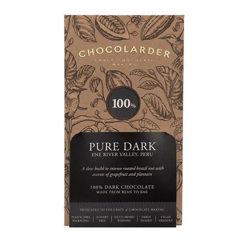 Chocolarder 100% Pure Dark Chocolate 70g Image 1
