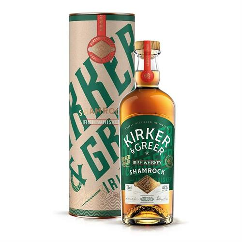 Kirker & Greer Shamrock Irish Whiskey 70cl Image 1