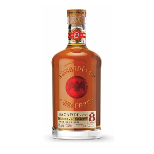 Bacardi 8 years old Rum 70cl Image 1