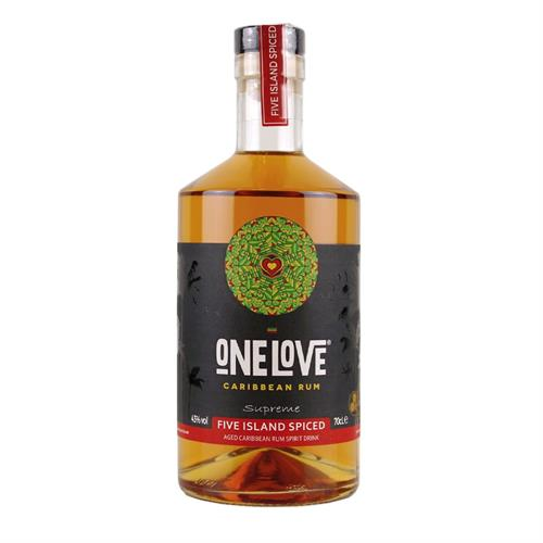 One Love Five Island Spiced Rum 70cl Image 1