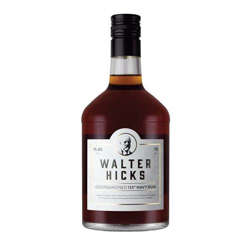 Walter Hicks 125 Navy Rum 70cl Image 1