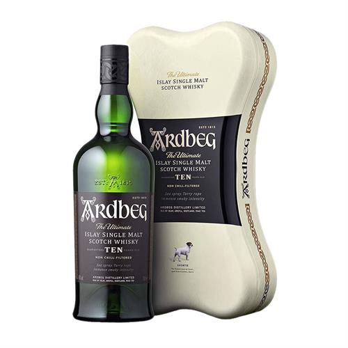 Ardbeg 10 Year Old 70cl Bone Gift Tin Image 1