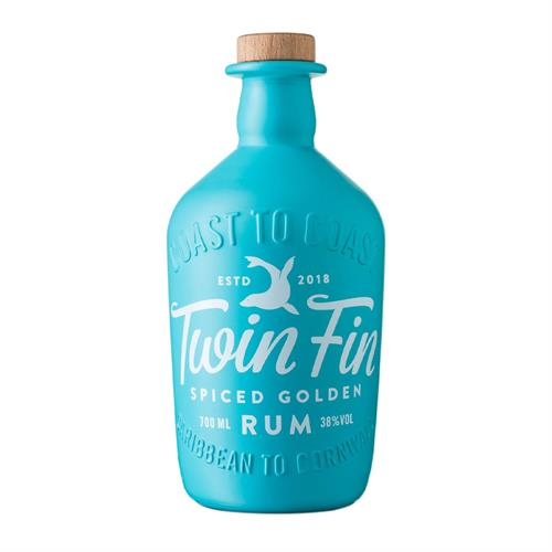 Twin Fin Spiced Golden Rum 70cl Image 1