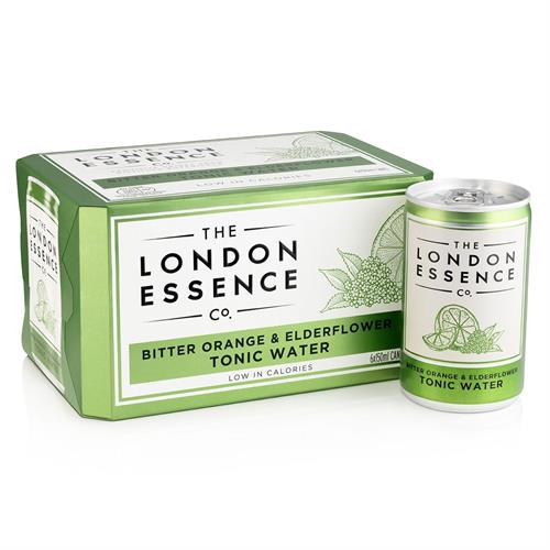 London Essence Bitter Orange & Elderflower Tonic Water Cans 6 x 150ml Image 1