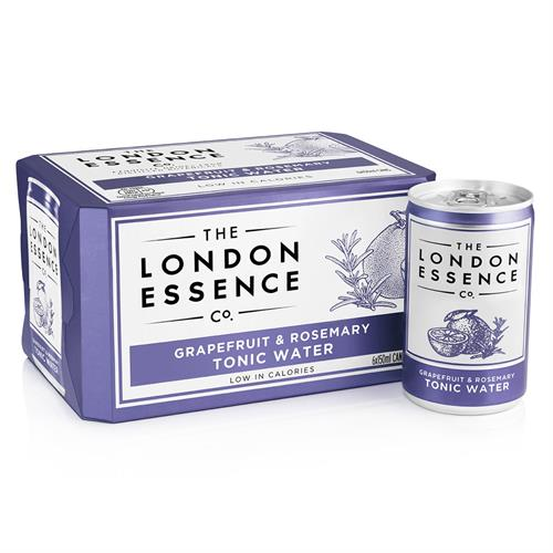 London Essence Grapefruit & Rosemary Tonic Water Cans 6 x 150ml Image 1