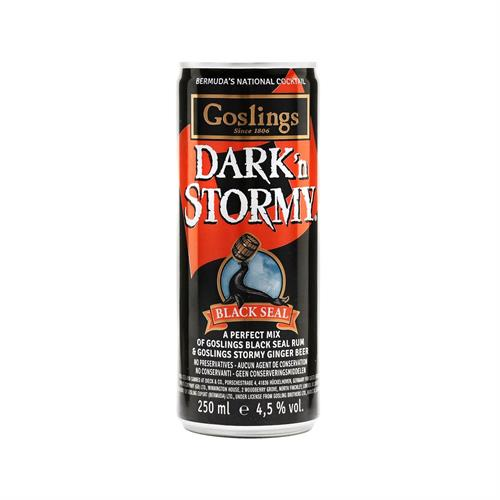 Gosling's Dark 'n Stormy Pre Mixed Can 4.5% 25cl Image 1