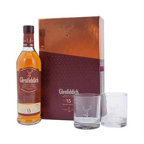 Glenfiddich 15 Year Old Gift Pack 70cl Image 1