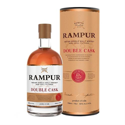 Rampur Double Cask Indian Single Malt Whisky 70cl Image 1