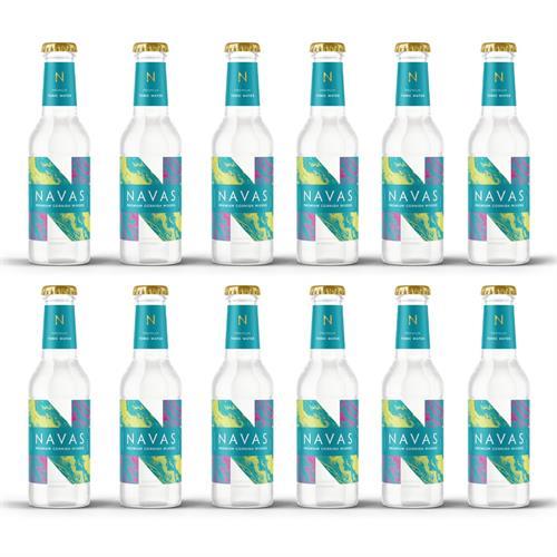 Navas Premium Tonic Water 200ml Case of 12 Image 1