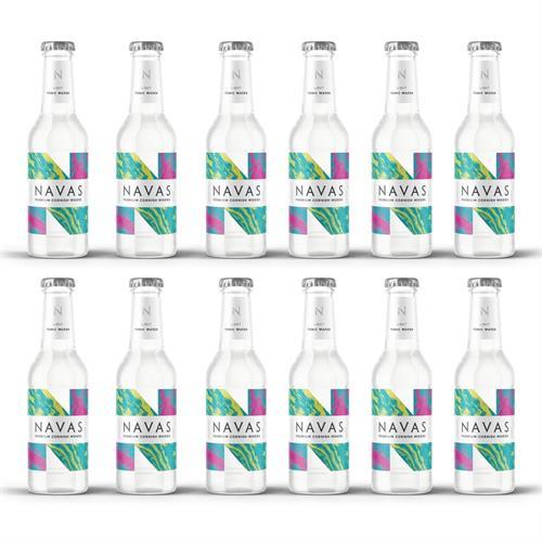 Navas Light Tonic Water 200ml Case of 12 Image 1