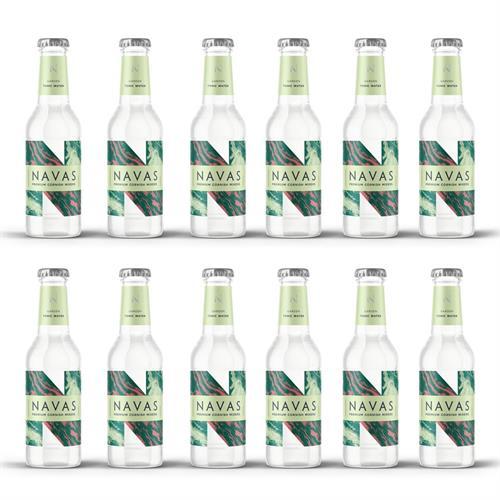 Navas Cornish Garden Tonic Water 200ml Case of 12 Image 1