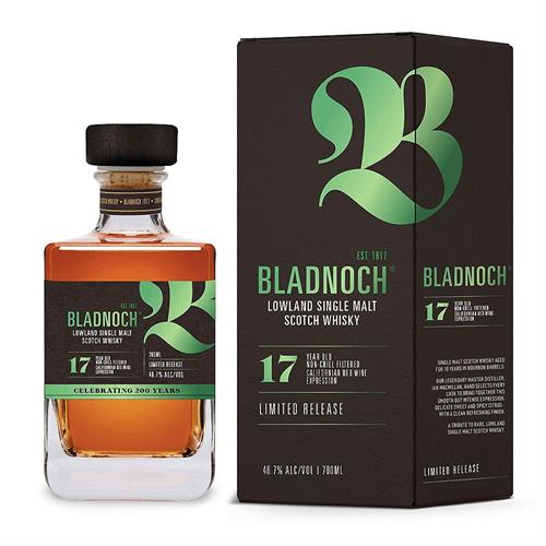 Bladnoch 17 Year Old Californian Red Wine Finish 70cl Image 1