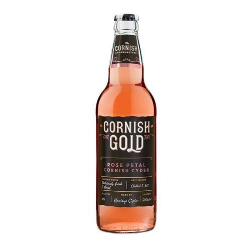 Healeys Cornish Gold Rose Petal Cyder 500ml Image 1