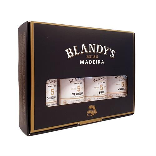 Blandys 5 Year Old Madeira Gift Pack 4x5cl Image 1