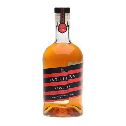 Hattiers Resolute Blended Aged Navy Strength Rum 70cl Image 1