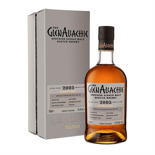 GlenAllachie 2005 Cask No. 5182 15 Year Old 57.6% 70cl Image 1