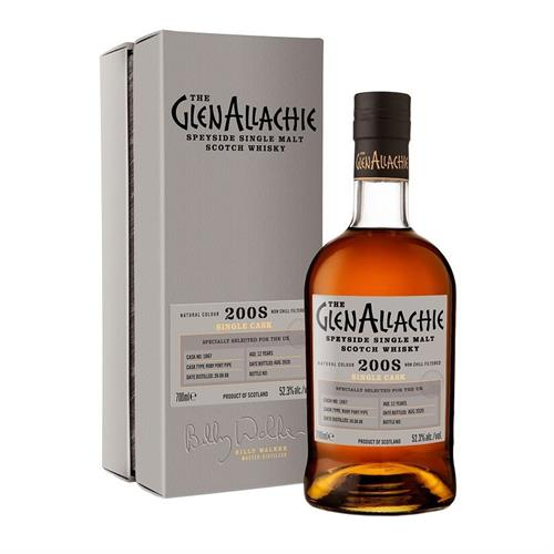 GlenAllachie 2008 Cask No. 1867 12 Year Old 52.3% 70cl Image 1