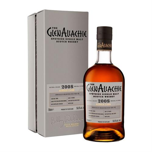 GlenAllachie 2008 Cask No. 3966 12 Year Old 52.3% 70cl Image 1