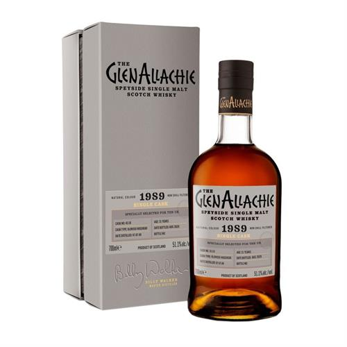 GlenAllachie 1989 Cask No. 6118 31 Year Old 51.1% 70cl Image 1