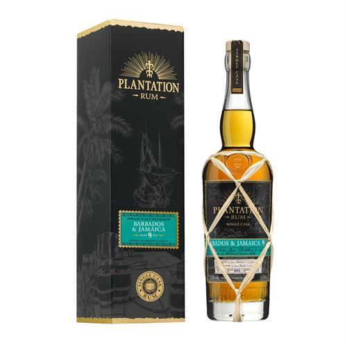 Plantation Single Cask Barbados & Jamaica 9 Year Old Rum 70cl Image 1