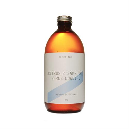 Sevenstones Citrus & Samphire Cornish Shrub Cordial 50cl Image 1