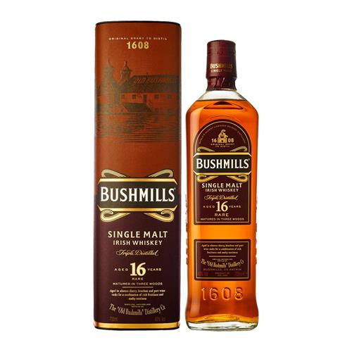Bushmills 16 Year Old Irish Single Malt Whiskey 70cl Image 1